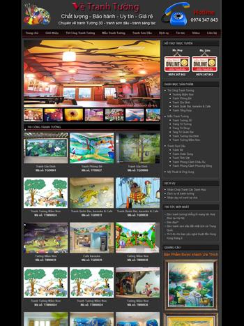 Thiết kế website Mỹ thuật Tranh tường