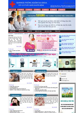 Thiết kế website phòng khám đa khoa