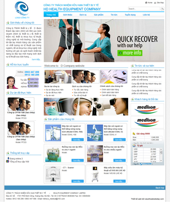 Thiết kế website thiết bị y tế