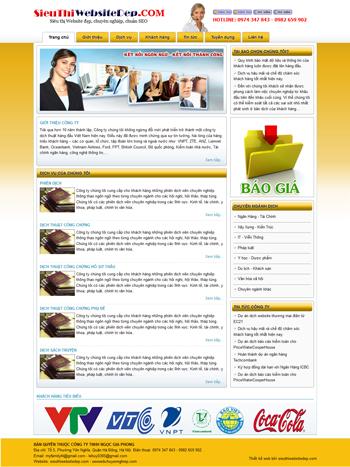 Thiết kế web dịch thuật - Mẫu 4