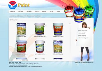 Thiết kế website Sơn - Paint Mẫu 1