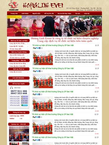 Thiết kế website tổ chức sự kiện - mẫu 2