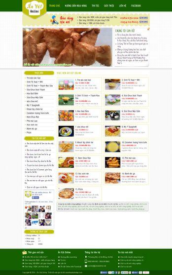 Thiết kế web ẩm thực - Mẫu 1