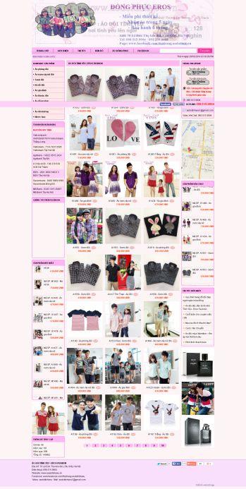 Thiết kế web áo đôi - Mẫu 1