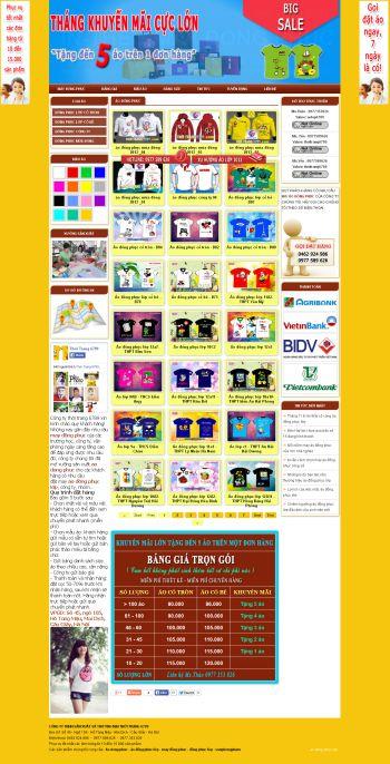 Thiết kế web áo đồng phục lớp mẫu 1