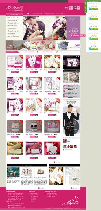 Thiết kế web thiệp cưới cao cấp - Mẫu 1