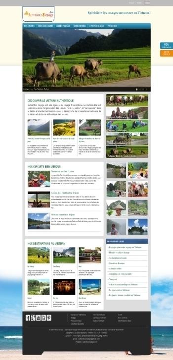 Thiết kế web du lịch - Mẫu 1