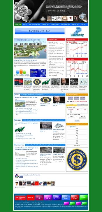 Thiết kế web bạc thế giới - Mẫu 1