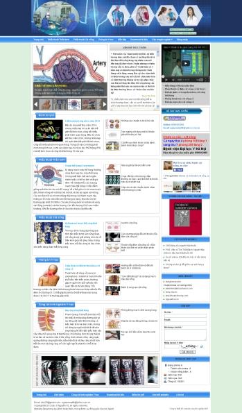 Thiết kế web y tế - Mẫu 1