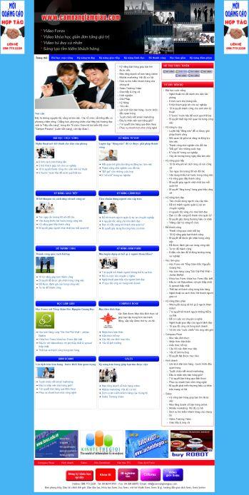 Thiết kế web giới thiệu - Mẫu 1