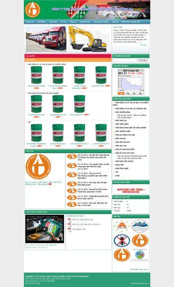 Thiết kế web giới thiệu - Mẫu 3