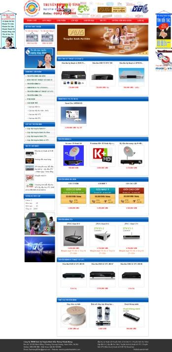 Thiết kế web truyền hình vệ tinh hd - Mẫu 1