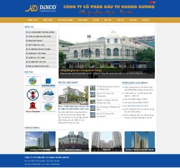 Thiết kế web công ty vệ sinh - Mẫu 1