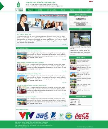 Thiết kế web giới thiệu công ty - Mẫu 1