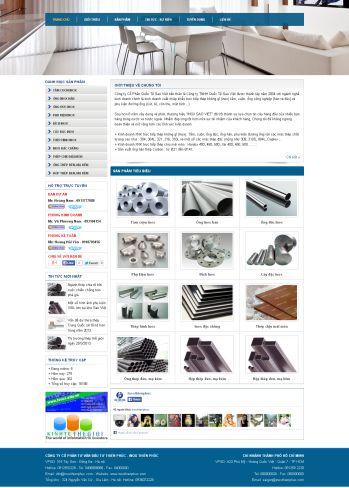 Thiết kế web giới thiệu công ty - Mẫu 2