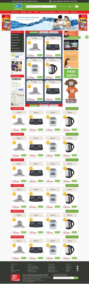 Thiết kế web thương mại điện tử - Mẫu 1