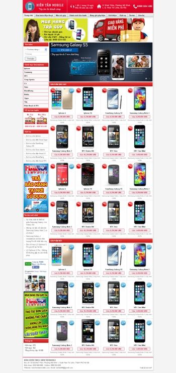 Thiết kế web thương mại điện tử - Mẫu 4
