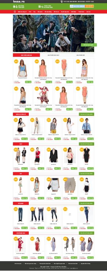 Thiết kế web thương mại điện tử - Mẫu 6