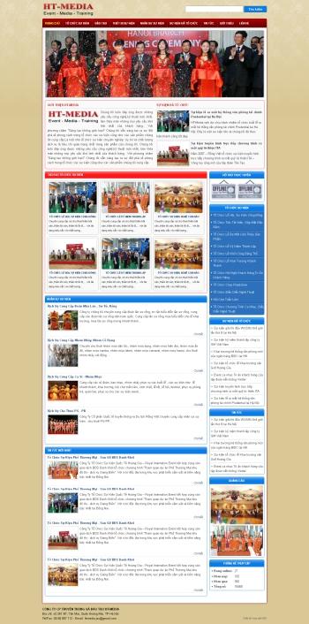 Thiết kế web tổ chức sự kiện - mẫu 3