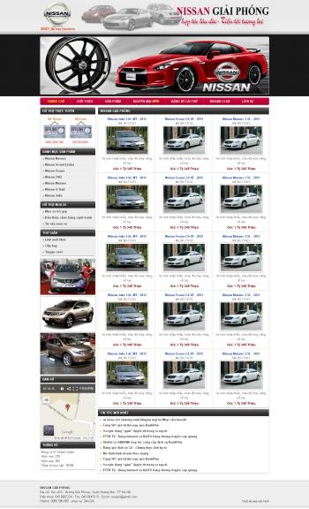 Thiết kế web ô tô - Mẫu 2