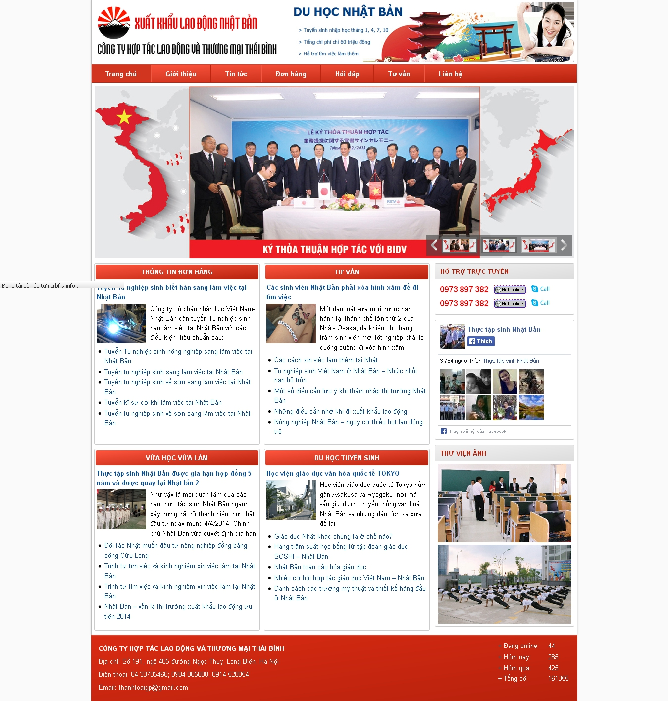 Thiết kế website xuất khẩu lao động