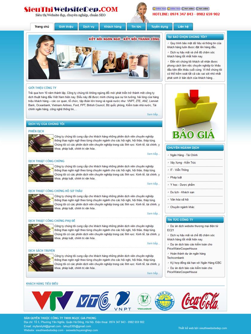 Thiết kế web dịch thuật