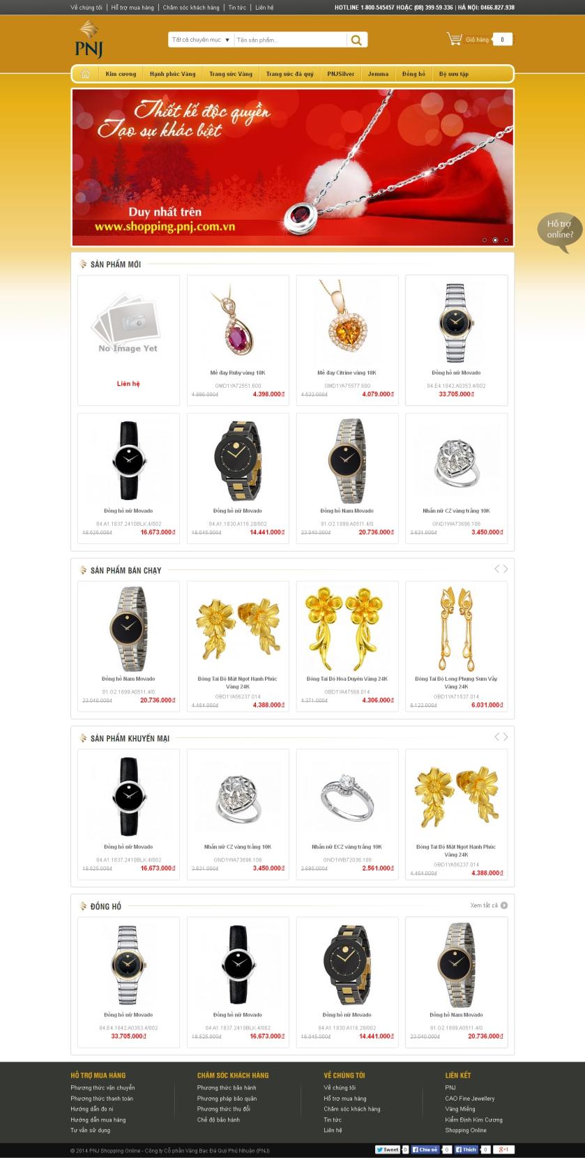 Thiết kế web vàng bạc - Mẫu 1